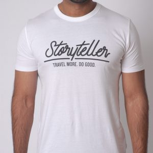 The Storyteller Bamboo Tee - White