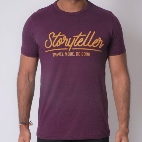 The Storyteller Bamboo Tee - Maroon